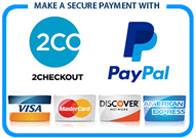 Paypal and 2Checkout logo
